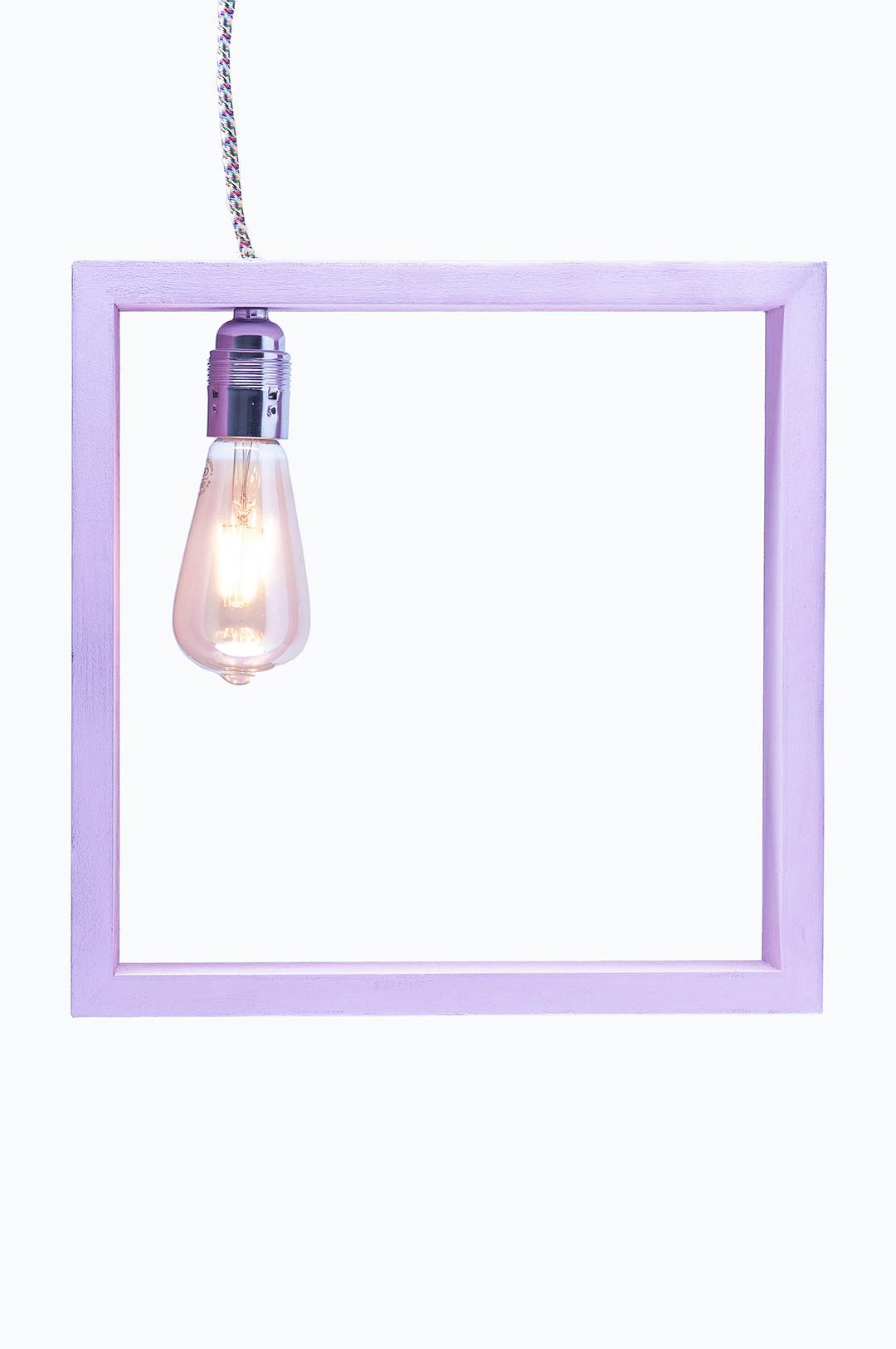 lampada quadrata lilla