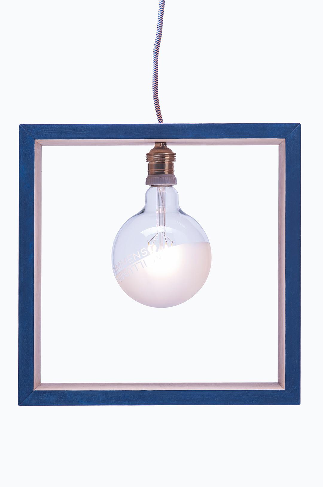 lampada quadrata blu